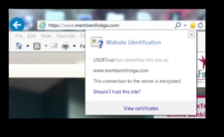membersfirst website secure